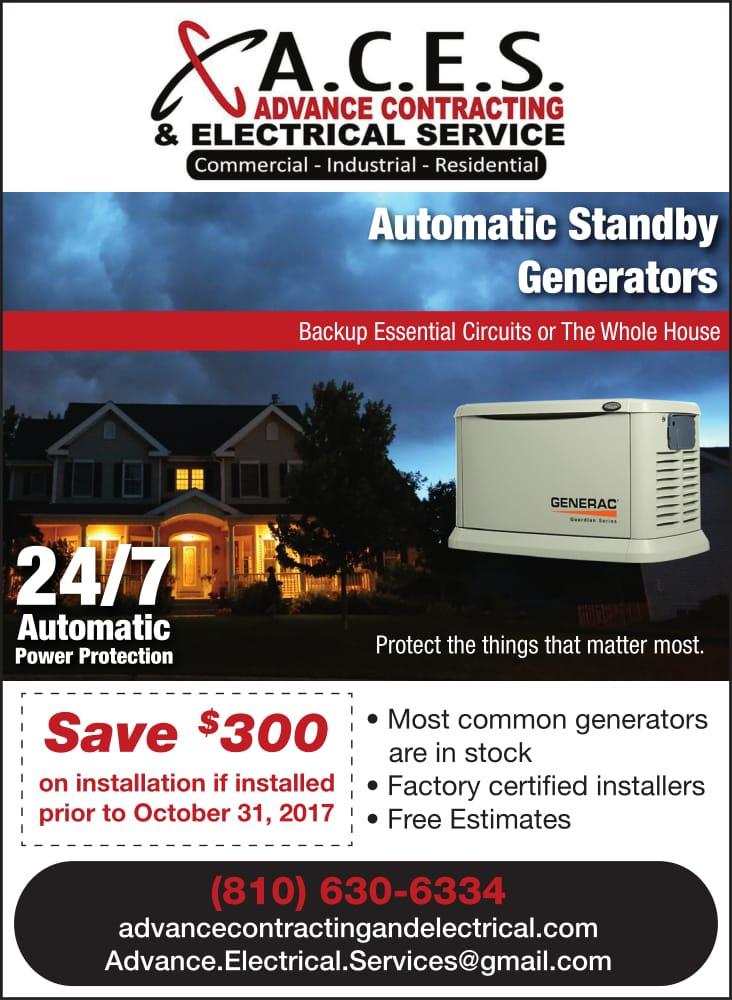 Advance Contracting Electrical Services Flint MI Electricians